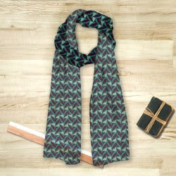 Foulard Abstrait Fifties Celadon