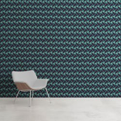 Papier peint Abstrait Fifties Celadon