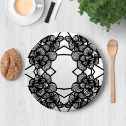 Assiette Graphic Flowers Blc