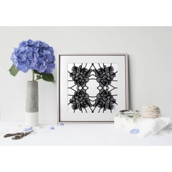 Print Art Graphic Flowers Blc