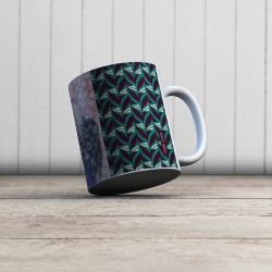 Mug Abstrait Fifties Céladon
