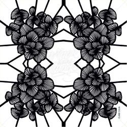 Graphic Flowers Black Noir