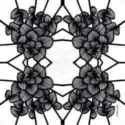 Graphic Flowers Black Noir
